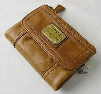 Fossil Emory Saddle Brown Leather Multifunction Wallet