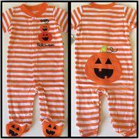 Koala Kids Baby Boys Or Girls Pumpkin Halloween Sleeper Outfit 3 Or 6 Months