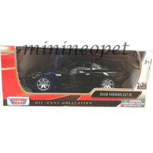 MOTORMAX-73384-NISSAN-SKYLINE-GT-R-GTR-R35-1-24-DIECAST-GLOSSY-BLACK