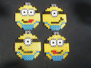 image is loading perler bead minion christmas holiday ornaments set of