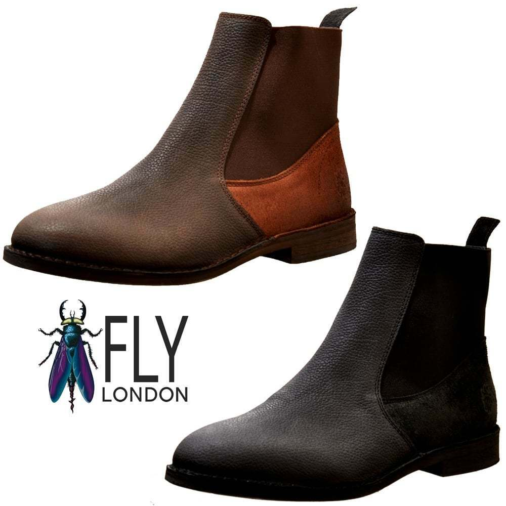 Mens Fly London Wack908FL Solero/Scratch Full Brown Leather Chelsea Boot Black Brown Full 6723d9