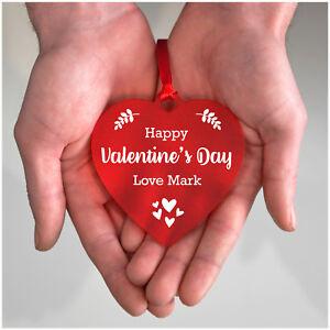 Détails Sur Personnalisé St Valentin Cadeaux Pour Elle Lui Copine Couples Amour Coeur Souvenir Afficher Le Titre Dorigine