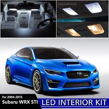 8PCS White Interior LED Light Package Kit For 2004 - 2015 Subaru WRX STI