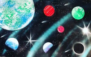 Details About Original Spray Paint Art Galaxy 14in X 22 In Poster Board