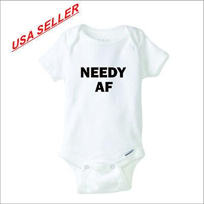 NEEDY AF CUTE One Piece Baby Bodysuit