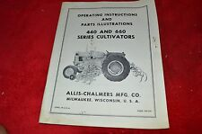 Allis Chalmers 440 660 Series Cultivators Operator's Manual & Parts Book HMPA