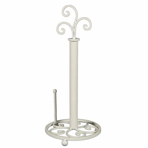Métal blanc laqué 41x18x18cm Rôles Support Ornament 2tlg