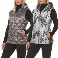 Gerry Women's Size L Large Packable Reversible Down Vest, Grey