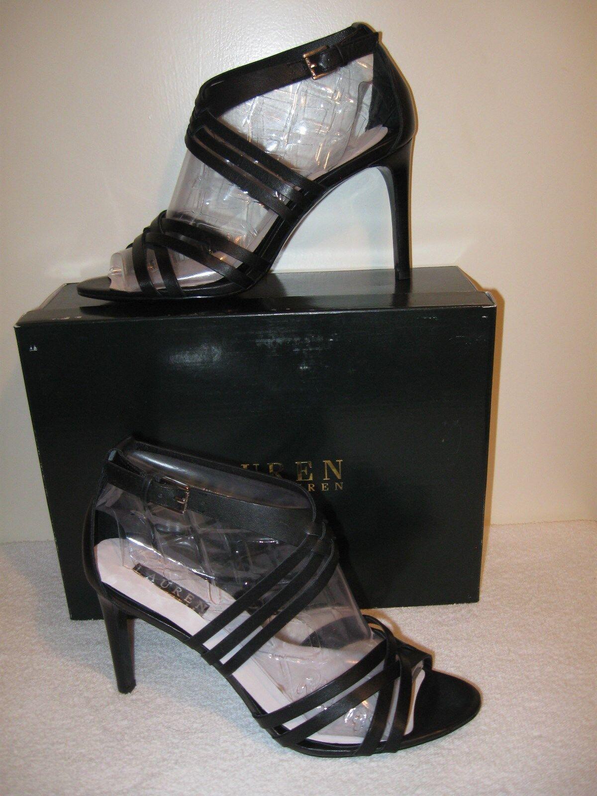 Lauren Ralph Lauren Women's Saba Sandals Black 8.5B NIB MSRP  110
