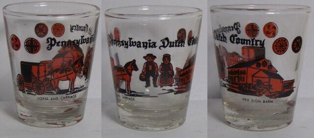 Pennsylvania Dutch Country Shot Glass #4235