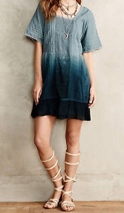 af11be9eb619 Image is loading Holding-Horses-Ocean-Dipped-Tunic-Dress-Size-S-