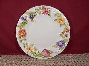 Image is loading Pfaltzgraff-Dinnerware-Emma-Pattern-Dinner-Plate-10-3- & Pfaltzgraff Dinnerware Emma Pattern Dinner Plate 10 3/4\