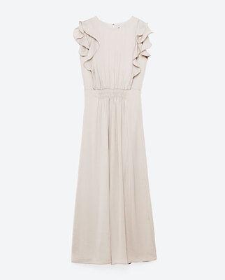2019 Neuer Stil Bnwt Zara Silver Jumpsuit With Frills Z M Uk12 Us 8