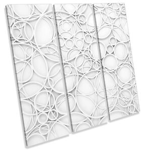 White-Abstract-Design-CANVAS-WALL-ART-TREBLE-Square-Print-Picture