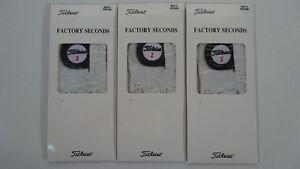 New-Titleist-Golf-Players-Gloves-Men-039-s-Medium-Factory-Seconds-3-Pack