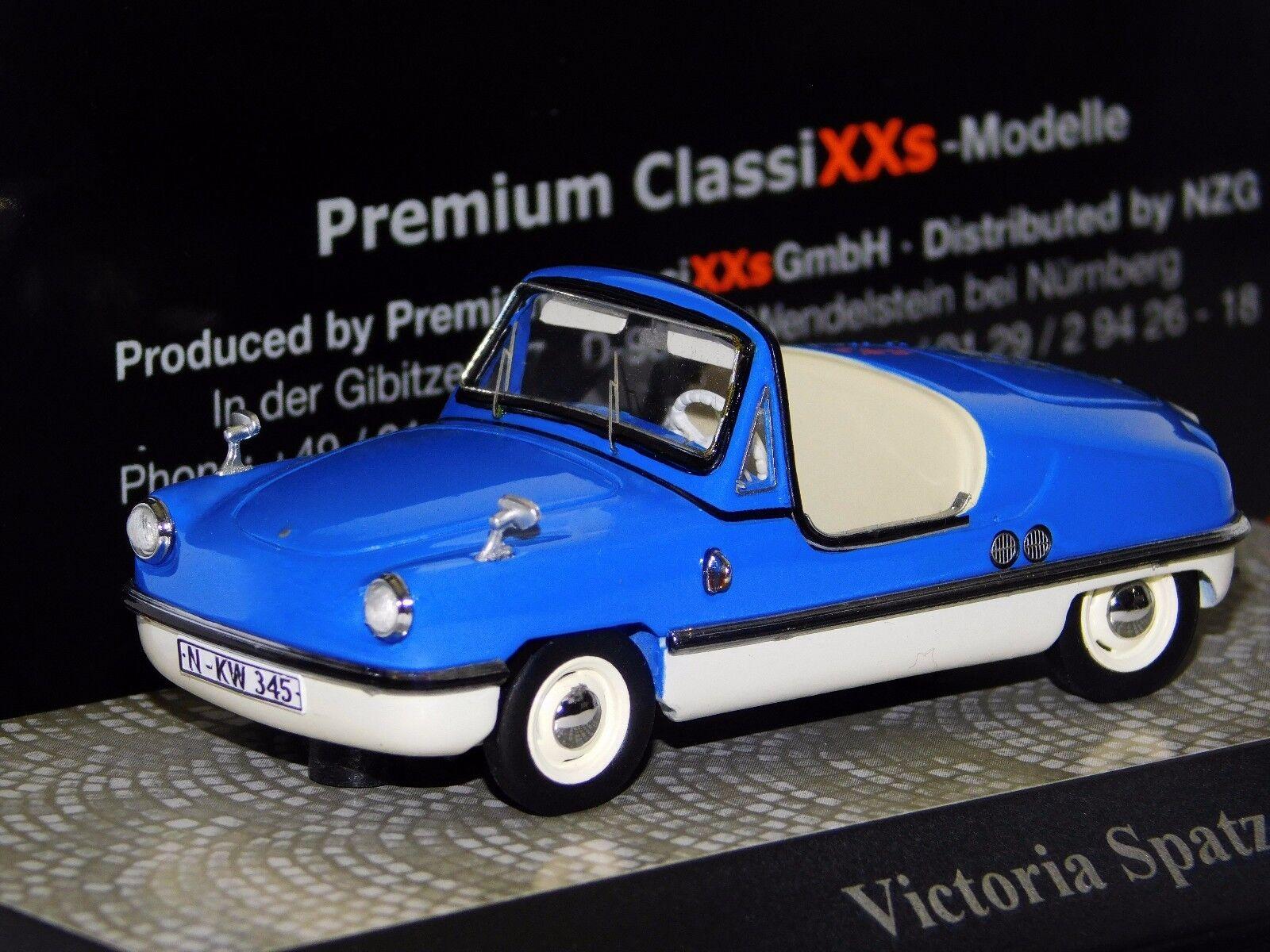 calidad de primera clase Victoria Spatz Luz Luz Luz Azul blancoo Premium Classixxs Hecho a Mano Lim. 18101 1 43  Esperando por ti
