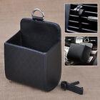 Car Accessories Black PU Leather Box Organizer Phone Pocket Storage Bag Holder