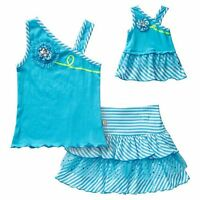 Dollie & Me Girl 4-14 And Doll Matching Blue Tank Scooter Outfit American Girls