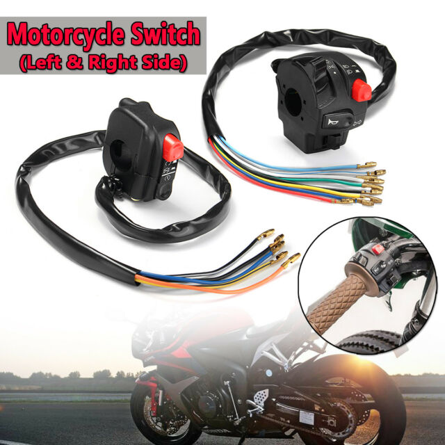 2x Button Switch Kit Ignition Engine Stop Lamp Horn Light for Honda Yamaha  Bike