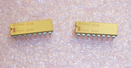 QTY MDP1603-332G 16 PIN DIP 3.3K Ohm  2/% ISOLATED RESISTOR NETWORKS NOS 25