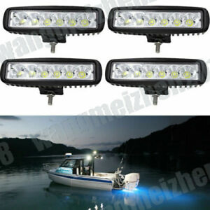 6inch black Spreader Deck Led Marine Lights Boat Light 12v Top Set of 4