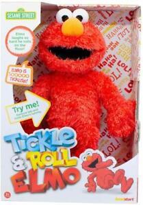 Sesame-Street-Tickle-amp-Rollio-Elmo-Morbido-Peluche-Bambola-Ridendo-Suoni-45-7cm