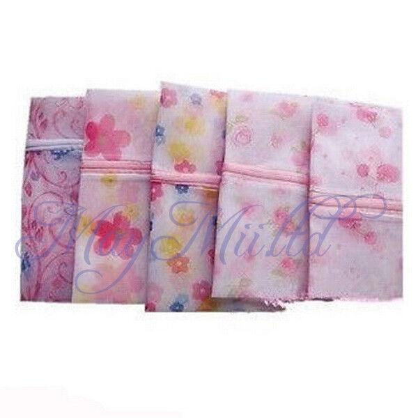 Floral Clothes Bra Underwear Socks Zipper Washing Laundry Bag Mesh New Brand W