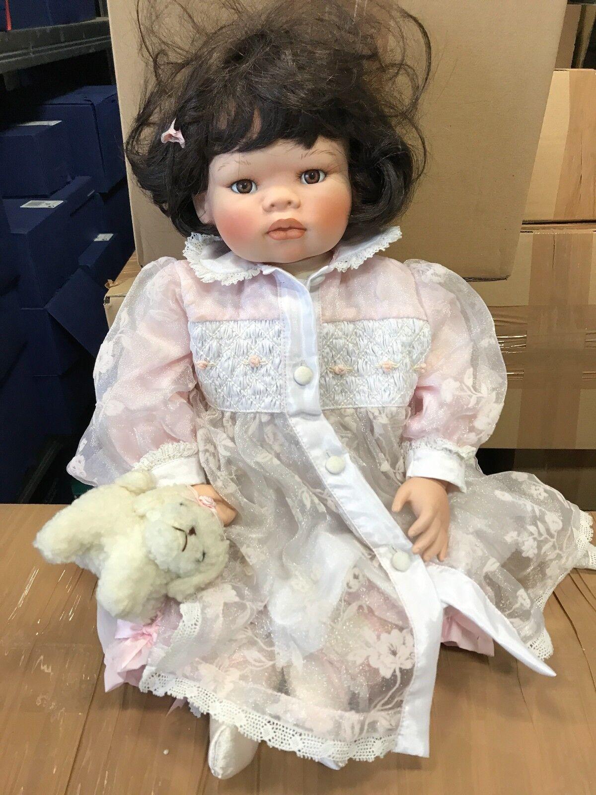 Künstlerpuppe Porzellan Puppe 58 cm. Top Zustand.