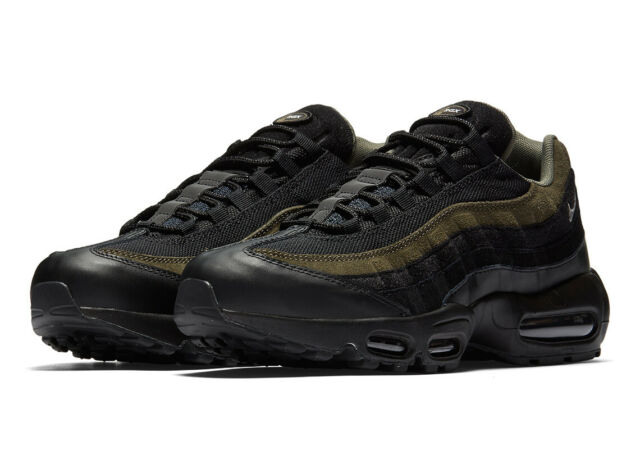 c4929be74ad5 Mens Nike Air Max 95 Hal Black Cargo Khaki Flat Silver Ah8444-001 US 13 for  sale online | eBay