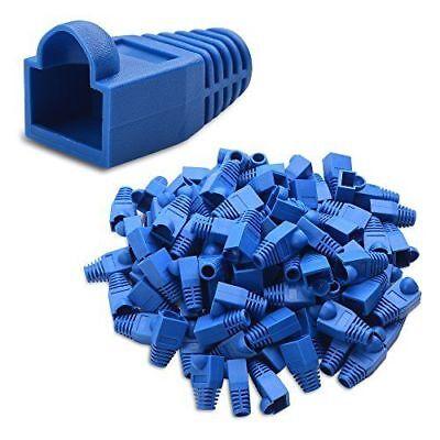 50 pcs Blue CAT5E CAT6 RJ45 Ethernet Network Cable Strain Relief Boots A-207BLU