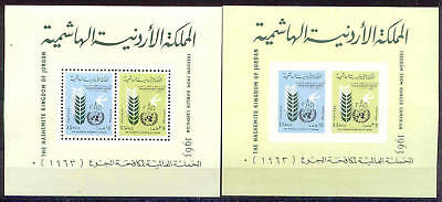 Jordanien Bl.4 A/b ** Mnh 1963 Bright And Translucent In Appearance Adroit Hungerkampf