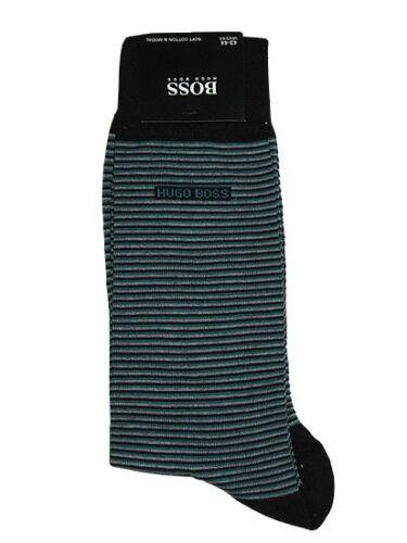 BNWT HUGO BOSS Mens Finest  Soft Cotton  Socks Striped Size 7-8