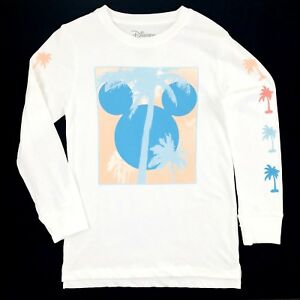 157978a65077 Disney Mickey Mouse Icon T Shirt Size Medium Boys White Tropical ...