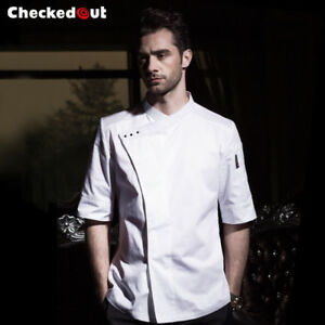 4de0f79c41b Fashion Cook Serve Short Sleeve Chef Jacket Hotel Uniform Kitchen
