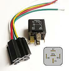12V Automotive Relay 40A 5-Pin With Wiring Plug