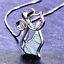 Fine-Fashion-925-Silver-Jewelry-Cat-White-Fire-Opal-Charm-Pendant-Necklace-Chain thumbnail 2