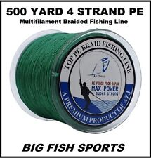500m / 50lb Super Strong 4 Strand Pro PE Power Braided Fishing Line 500 Yd