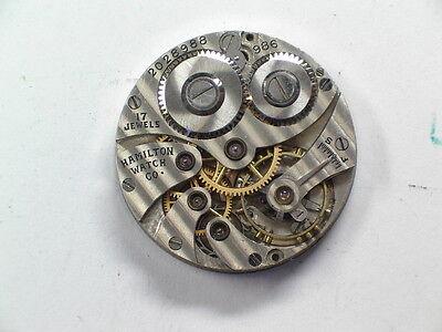 Vintage Hamilton Grade 986 Complete Wristwatch Movement