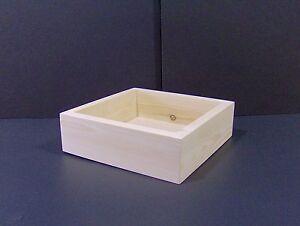"12"" x 12"" x 3"" (Custom Handmade) Craft Box Unfinished Display Wood Wooden Boxes"