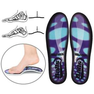 05e7f7e800 3D Orthotic Flat Feet Foot High Arch Gel Heel Support Shoe Inserts ...