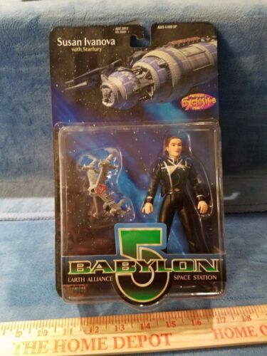 Babylon 5 SUSAN IVANOVA Action Figure-New MOC-avec starfury navire
