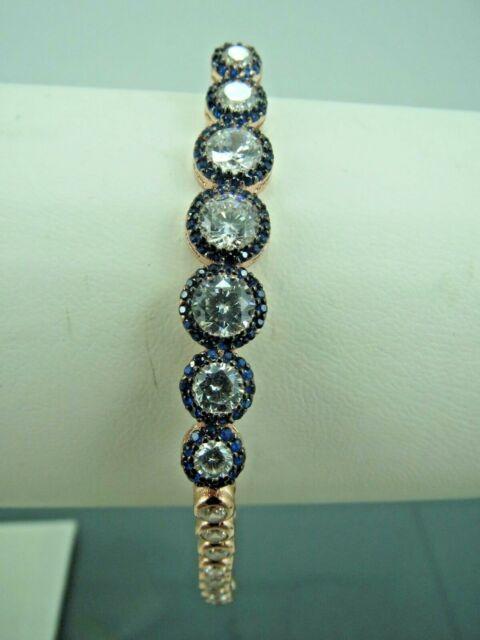 Turkish Handmade Jewelry 925 Sterling Silver Zircon Stone Ladies' Bracelet