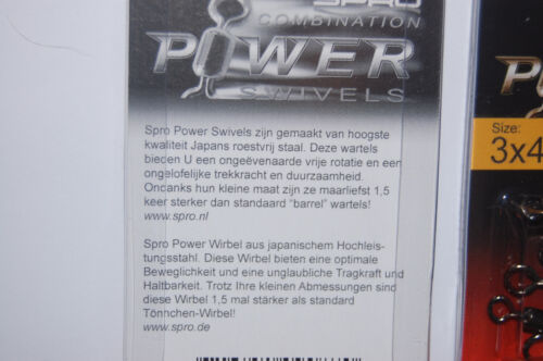 4582-003 2 packs spro combination power swivels size 3x4 81.0kgs 178lb
