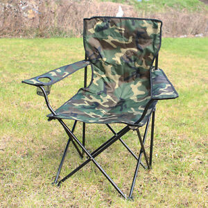 Image Is Loading OUTDOOR CAMPING CHAIR WOODLAND  CAMO Folding Portable Fishing