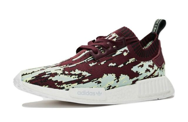 8d28d77a11dc5 Adidas NMD R1 PK - SNS Exclusive Datamosh 2.0 Maroon - Size 9 DB2843