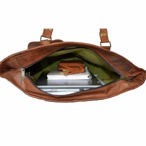 Details about  /Real Natural Leather Vintage Messenger ladies Shoulder Hippie Tote Bag sling