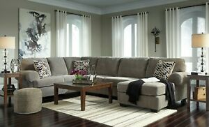 Details about Ashley Furniture Jinllingsly Gray 3 Piece Sectional Living  Room Set