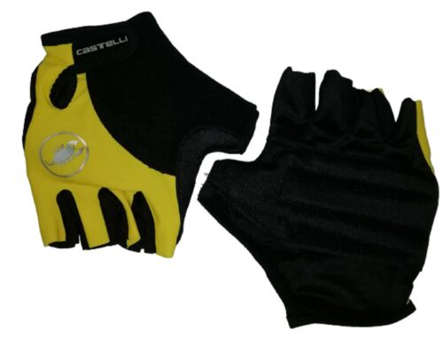 Gloves Cycling Castelli Yellow Cycling Gloves Sizes XXL New Promo