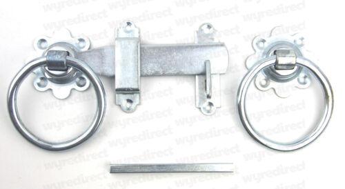 """Gatemate Gate Ring Latch 6/"""" 150mm BZP Gate Garage Door Latch"""