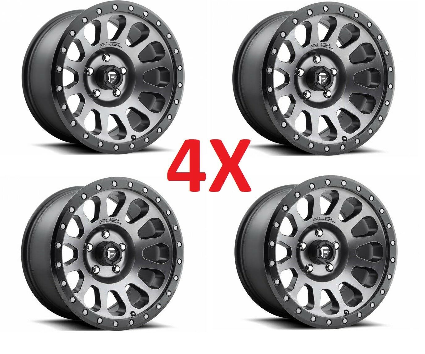 Fuel Wheels 20x9 >> 20x9 Fuel Wheels Rims D601 Matte Gray Grey Black Ring Method Grid Chevrolet Gmc
